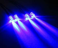 R/c policía coche vehículo - 4 Intermitente Azul LED Luz Kit PP3 Clip + Interruptor