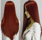 vogue long red mixed straight women's Human-made hair wig/wigs+cap