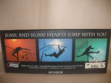 USA TRACK & FIELD AUTOGRAPH PLAQUE ANDRE PHILLIPS FROM KEVIN YOUNG USA OLYMPIC
