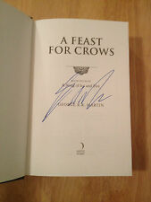 SIGNED A Feast for Crows by George R. R. Martin Hardcover UK Slipcase + PHOTO