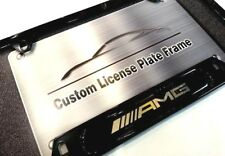 License Plate Frame for AMG Gloss Black Mercedes-Benz C CLA CLS E G GL ML SL SLS