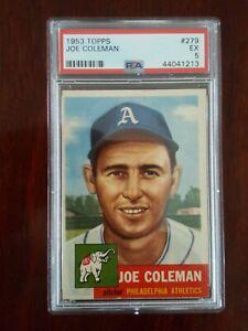 1953 Topps 279 Joe Coleman PSA 5 HIGH # SP