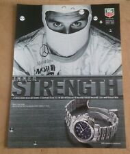 TAG HEUER. 6000 CHRONOGRAPH. DAVID COULTHARD. VINTAGE WATCH ADVERT. FREE UK POST
