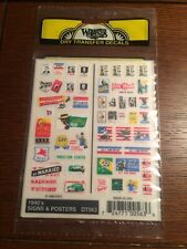 Woodland Scenics Dry Transfer Decals ~ NOS ~ 1940's Signs & Posters DT563