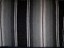 Extra Large New 2 Tone Black Genuine Mexican Sarape Hot Rod Blanket Rug Picnic