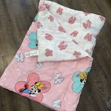 Vintage Usa Made Reversible Baby Minnie Mouse Disney Bedding Comforter Twin Size