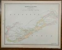"Vintage 1900 BERMUDA Atlas Map 14""x11"" Old Antique Original ST GEORGES HAMILTON"