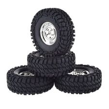 RC Rock 1:10 Climbing Crawler 1.9 Inch Plastic Wheels and 114MM Tires Set 4Pcs