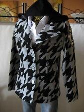 CINEMA DONNA belle Veste courte manteau taille 36 laine & Capuche & w.neu*c193