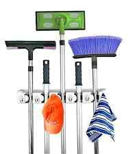 Home- It Mop and Broom Holder Wall Mount Garden Tool Storage Rack Organizer Hang