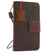 genuine leather case fit LG G8  wallet cover book holder wallet detachable davis