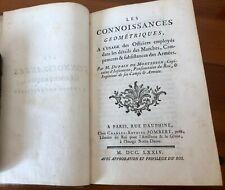 LES CONNOISSANCES GEOMETRIQUES - M. Dupain de Montesson Paris 1774 Ingenieros