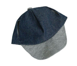 Adorable Blue & Gray Baseball Cap Fits Most 16 inch Build A Bear and Make Your O