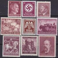 Third Reich 9 MNH Nazi Swastika / Hitler Stamps!!   Combined Shipping!