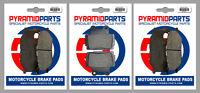 Front & Rear Brake Pads (3 Pairs) for Yamaha XJ 600 S Diversion 98-03