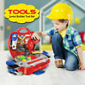 BOYS KIDS CHILDRENS ROLE PLAY BUILDER TOYS TOOL SET HARD CARRY CASE SCREWDRIVER