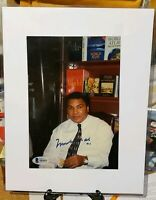 Muhammad Ali Signed 5x8 Cookie Photo Beckett LOA Boxing HOFAuto BAS Autograph