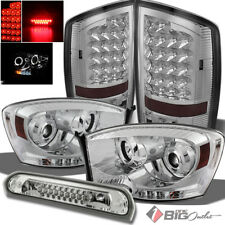 For 07-09 Ram Headlights + LED Tail Lights w/LED Signal + LED 3rd Brake Cargo