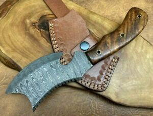 Handmade Damascus Steel Small Axe Camping Crafts Collectible Gift 24cm X1R