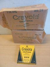 Vintage NOS 2 packs (24 boxes) Crayola Crayons No 38