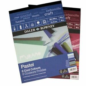 "Pastel Paper 12""x9"" cool warm colour Murano pad art pads sketchbooks soft pastel"