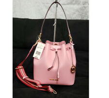 🌹NWT Michael Kors Eden Bucket Shoulder Bag Wide Strap Medium Leather pink