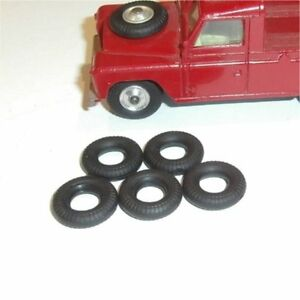 Corgi Toys Land Rover & Small Truck pre-1967 Tires set of 5 Tyres Pack #78