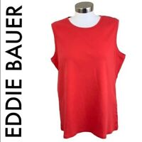 EDDIE BAUER Women's Size Extra Large Red Top Pullover Sleeveless Crew Neck