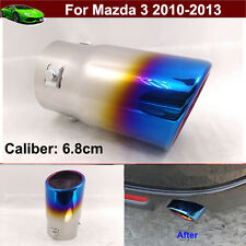 1pcs Blue Exhaust Muffler Tail Pipe Tip Tailpipe Emblems For Mazda 3 2010-2013