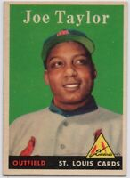 1958 Topps #451 Joe Taylor NM-NMMT Rookie RC St. Louis Cardinals FREE SHIPPING