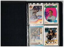 Hockey Card Album Autographed Vancouver Canucks Cards No Letter of Authenticity