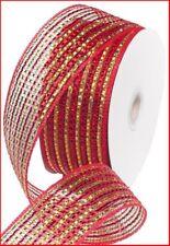 Rojo 4 Pulgadas 25 yardas Cinta de navidad de terciopelo Impermeable Doble Borde Con Cable