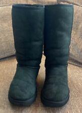 Ladies Black Ugg Boots Size 7.5