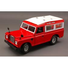 Land Rover 110 1983 Red W/white Roof 1 24 Burago Auto Stradali Die cast
