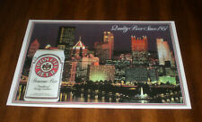 IRON CITY BEER 11X17 COLOR AD PRINT PITTSBURGH AT NIGHT