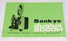 *** NOTICE D'EMPLOI POUR PROJECTEUR SANKYO DUALUX 2000H - TRES BON ETAT ***