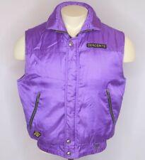 VTG 80s Descente Ski Snow Purple Vest Jacket Embroidered Snowboard sz XS