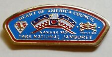 Heart of America Council (MO) 1985 National Jamboree CSP Shaped Hat Pin  BSA