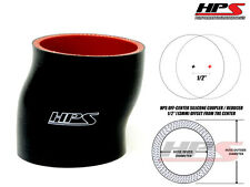 """HPS 2.5"""" 63mm 4-Ply Silicone Intercooler Turbo Pipe Offset Coupler Hose BLACK"""