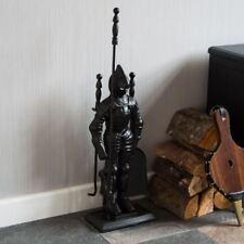 4 piezas juego de compañero de fuego caballero soldado herramientas de hierro fundido negro por Casa de descuento
