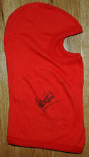 Jackie Stewart - Autographed - Signed red racing balaclava