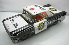 Shudo Japan Tin Toys Ford Galaxie Friction Police Highway Patrol Good Condition
