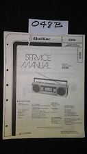 Quasar GX3606 service manual stereo cassette player boombox original repair