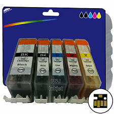5 Inks for Canon iP4950 iX6250 MG5200 MG6150 MG6250 MX885 non-OEM 525/6
