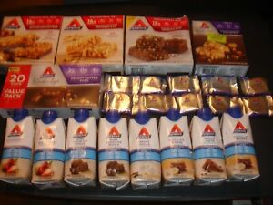 58 ATKINS ASSORTED ENERGY BARS AND SHAKES, NEW SEALED READ COMMENTS