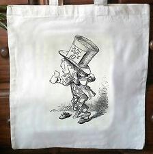 ALICE NEL PAESE DELLE MERAVIGLIE AMBIENTALE cotone vintage borsa grande shopping