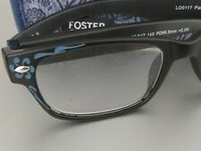 Foster Grant Readers +2.00 Patricia Blu Reading Glasses w/Case Free Shipping