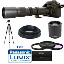 UHD 4K 8K 500mm/1000mm Lens +TRIPOD + HD FILTERS FOR PANASONIC LUMIX DMC-GF2 G5
