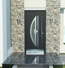 Door Modern Solid External  Aluminium with UPVC WH75 NY2110 Entrance Front Door