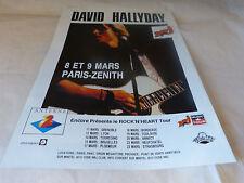 DAVID HALLYDAY - Publicité de magazine / Advert ROCK'N'HEART TOUR !!!